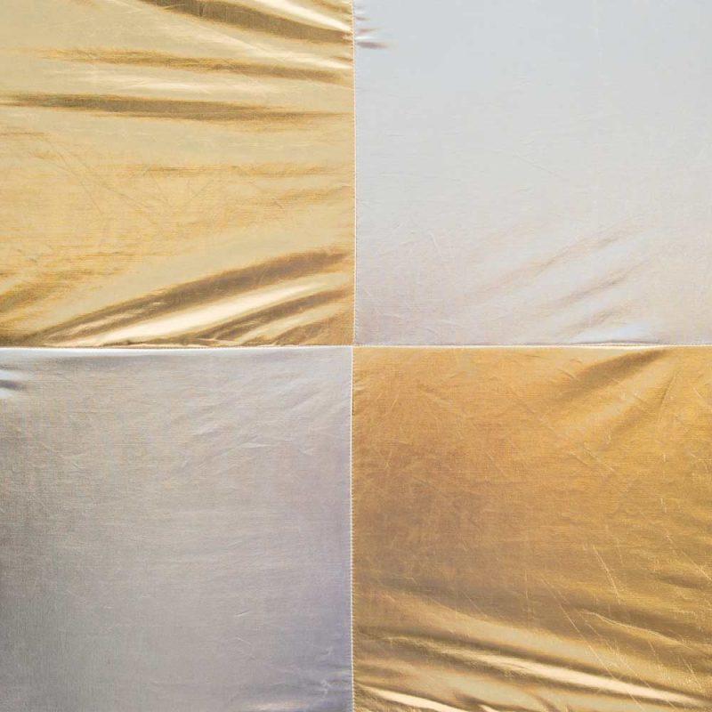 Silver Gold Checkerboard